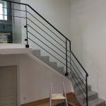 Réalisation et pose d'un garde-corps escalier (Client particulier)