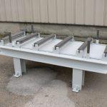 Table lourde avec rive largeur 1200mm en exemple, toutes dimensions sont disponibles