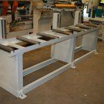 Table lourde avec rouleaux verticaux (charge 2 t/m)